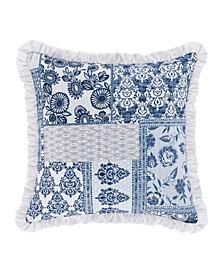 "Tessa Navy 16"" Square Decorative Throw Pillow"