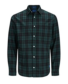 Men's Autumn Long Sleeved Check Shirt