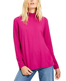 Mock-Neck Knit Top