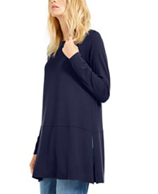 Eileen Fisher Boat-Neck Tunic Top