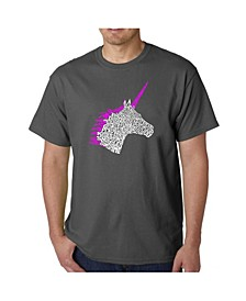 Men's Word Art T-Shirt - Unicorn