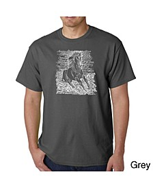 Men's Word Art T-Shirt - Horse Breeds