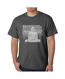 Men's Word Art T-Shirt - Zen Buddha