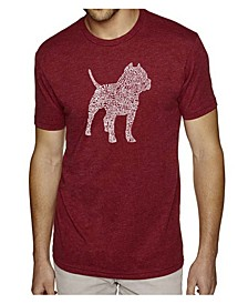 Men's Premium Word Art T-Shirt - Pit bull