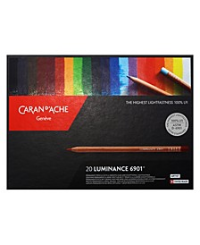 Luminance 6901, Dry Permanent Colored Pencils in Protective Box - Assortment of 20 Colors