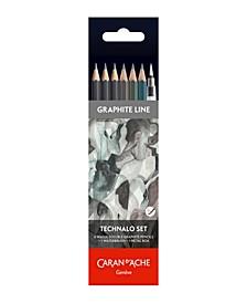 Technalo Graphite Pencil Set, 6 Pieces