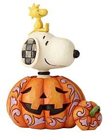 Enesco Snoopy Woodstock in pumpkin