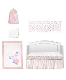Vintage Like Rose 6 Piece Crib Bedding Set
