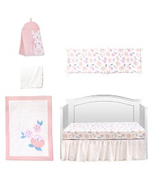 Pam Grace Creations Vintage Like Rose 6 Piece Crib Bedding Set