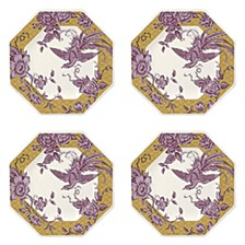 Kingsley  Ochre Octagonal Plate, Set of 4
