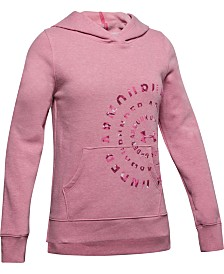 Under Armour Big Girls Graphic-Print Fleece Hoodie
