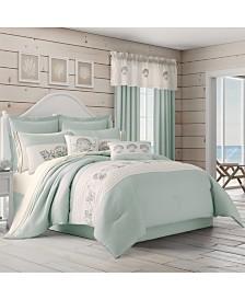 Royal Court Water's Edge Aqua Queen 4pc. Comforter Set