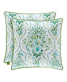 """J by J Queen Kayani 18"""" Square Decorative Throw Pillow"""