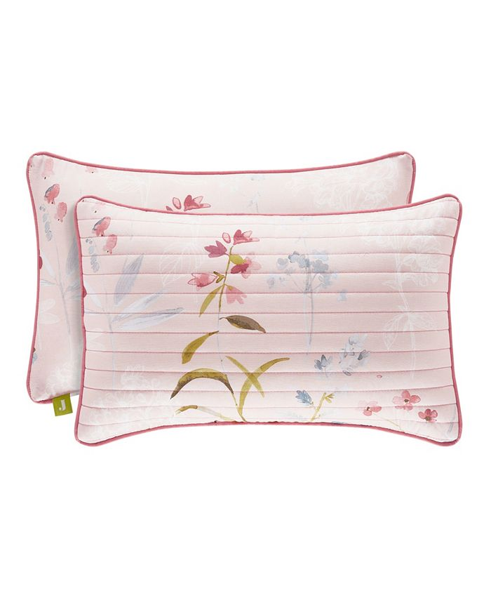 J Queen New York - Beatrice Rose Quilted Boudoir Decorative Throw Pillow