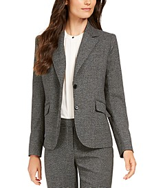 Houndstooth 2-Button Jacket
