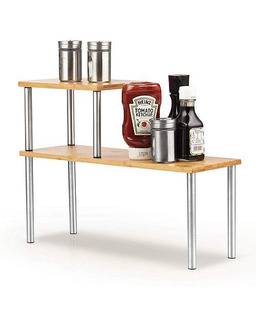 Cook N Home Counter Storage Shelf Organizer, Rectangle, 2 Tier, Model 02650