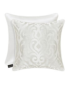 "J Queen Cordelia 20"" Square Decorative Throw Pillow"