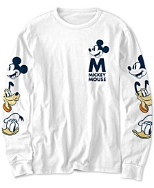 Big Boys Mickey Mouse Character Heads T-Shirt