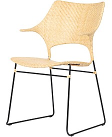Osaka Cane and Steel Armchair