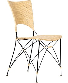 David Francis Furniture Kyoto Cane and Steel Side Chair