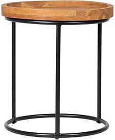 Sunset Round Indoor/Outdoor Side Table with Glass