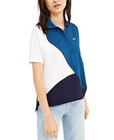 Short-Sleeve Colorblocked Polo Shirt