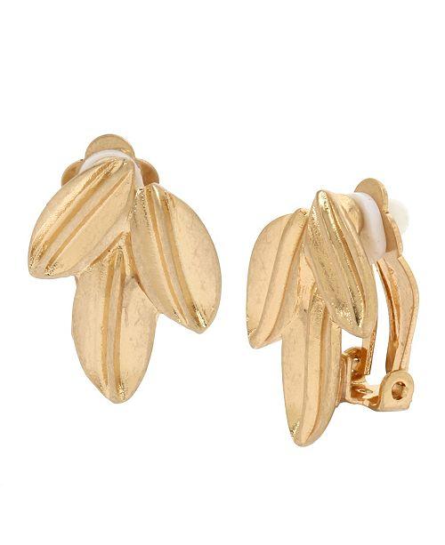 Robert Lee Morris Soho Sculptural Leaf Cluster Clip-on Earrings