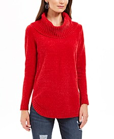 Petite Metallic-Threaded Turtleneck Sweater, Created For Macy's