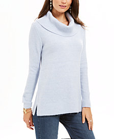 Style & Co Lurex Cowl-Neck Sweater, Created For Macy's