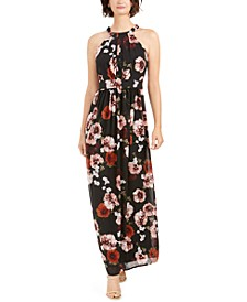 INC Floral-Print Halter Maxi Dress, Created for Macy's
