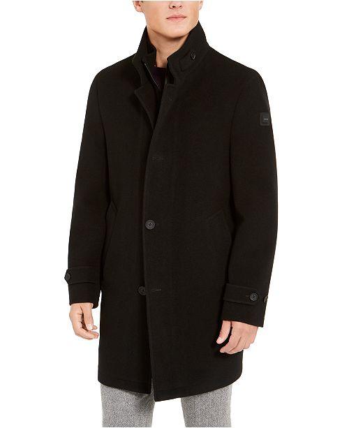 Calvin Klein Men's Slim-Fit Heated Overcoat