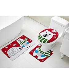VCNY Home Polar Bear 3-Pc. Bath Rug Set