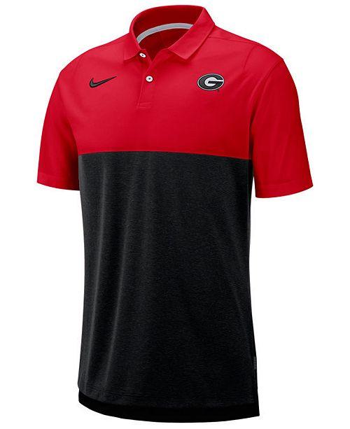 Nike Men's Georgia Bulldogs Dri-Fit Colorblock Breathe Polo