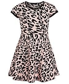 Sequin Hearts Big Girls Cheetah-Print Dress
