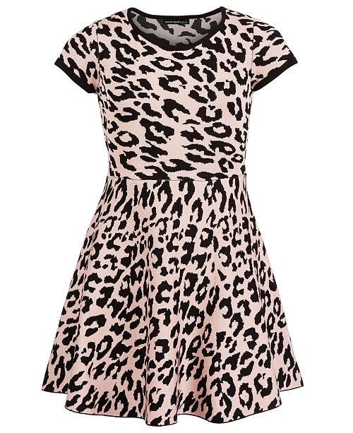 Sequin Hearts Big Girls Cheetah-Print Dress