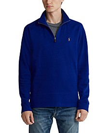 Men's Estate-Rib Quarter-Zip Pullover, Created for Macy's