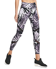 Sport Ferns Printed High-Waist Leggings