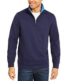 Men's Stretch 1/4-Zip Fleece Sweatshirt, Created For Macy's
