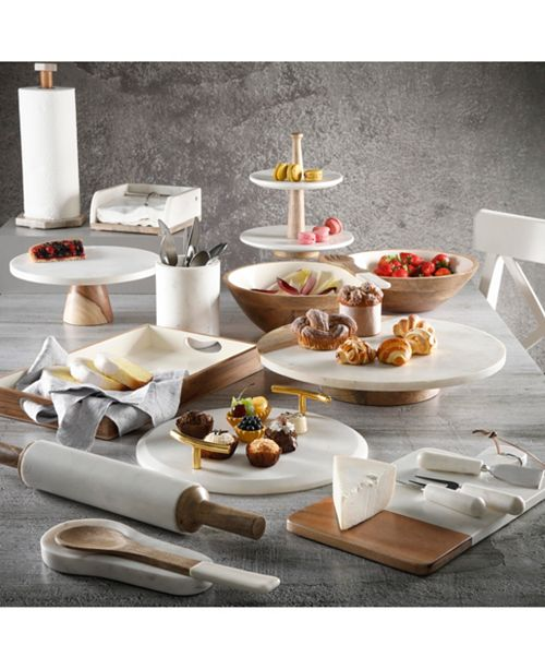 Gibson Laurie Gates Mixed Material Serveware Collection