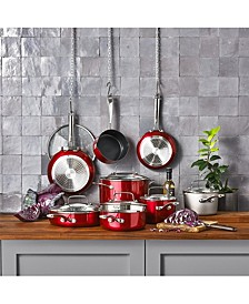 Architect® 12-Pc. Non-Stick Pour & Strain Cookware Set, Created for Macy's