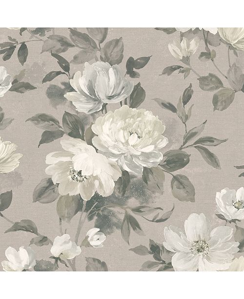 """Wall Vision 21"""" x 396"""" Peony Light Floral Wallpaper"""