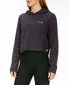 Chill Rib Fleece Crop Pullover Hoodie