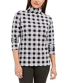 Plaid Turtleneck Top, Created For Macy's