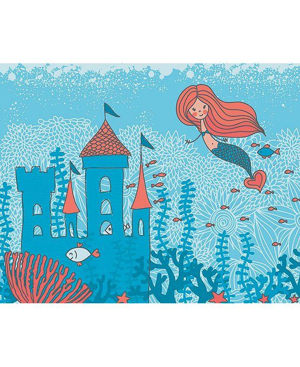 ohpopsi Mermaid Castle Wall Mural