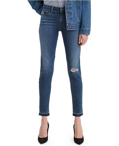 Levi's 711 Released-Hem Skinny Jeans