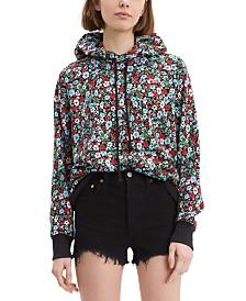 Levi's® Floral-Print Fleece Hoodie
