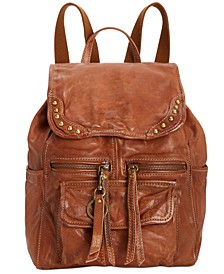 Odessa Studded Washed Leather Backpack