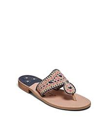 Jacks Crochet Flat Sandals