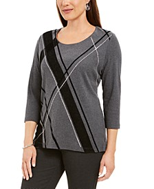 Angled-Stripe Top, Created for Macy's