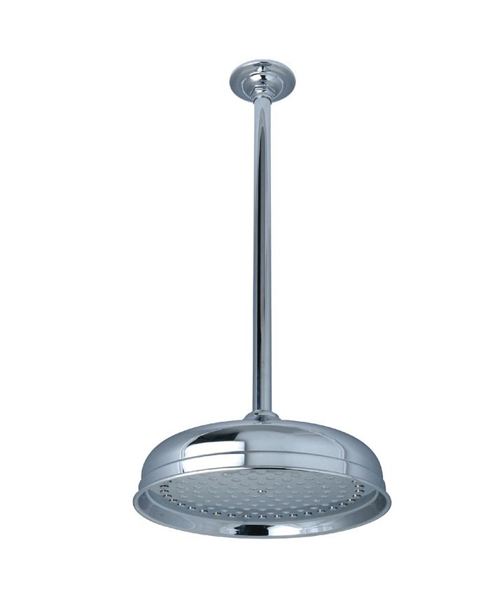 Kingston Brass - Trimscape 10-Inch Shower Head with 17-Inch Ceiling Mounted Shower Arm in Polished Chrome